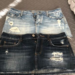 Jean skirts both size 6